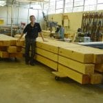 Lynn cut all this timber to plan specifications himself.