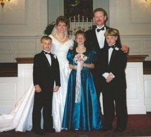 Our family on our wedding day, Oct. 11, 1997.