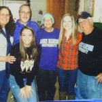 Our family gathered with Mom during her chemo treatments to give her moral support.