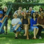 My parents and siblings with their spouses and children (and their spouses or significant others)