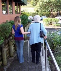 As mobility becomes difficult, ramps help caregivers to get family members in and out of the house.