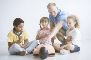 Even young children trained in emergency response techniques can keep someone alive until an emergency response team can arrive.