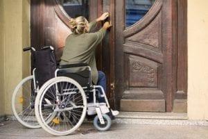 No handicap accessible entrance way