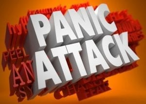 Panic Attacks are sudden onset of extreme feelings of anxiety with intense physical symptoms such as fast pulse, rapid breathing, sweating, and fear.