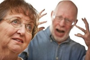 An increase in agitation is sometimes seen with sundowning.