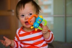 Children learn to speak by mimicking sounds. With developmental disabilities such as Downs Syndrome where the tongue's ability to move is impaired, learning speech is more difficult.