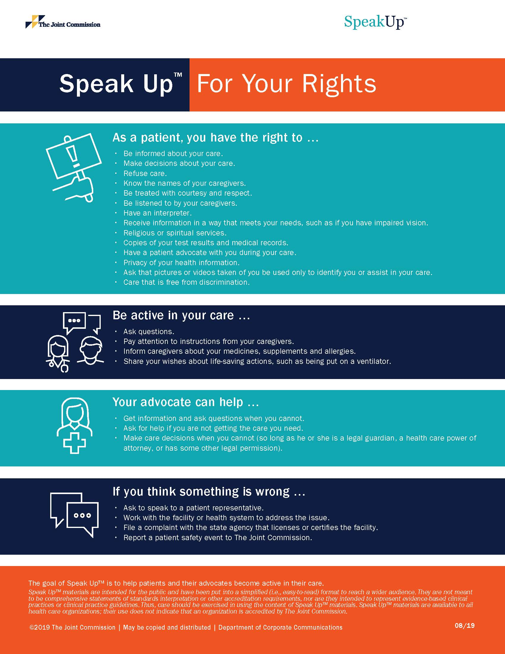 Speak up for your Rights Poster